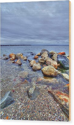 Wood Print featuring the photograph Greenwich Bay by Alex Grichenko