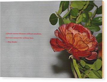 Greeting Of Love Wood Print by Sonali Gangane