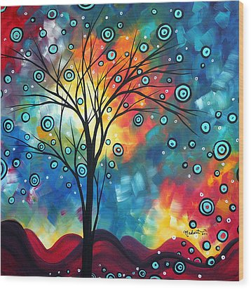 Greeting The Dawn By Madart Wood Print by Megan Duncanson