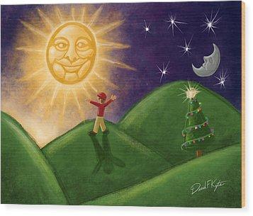 Greeting The New Sun Wood Print by David Kyte