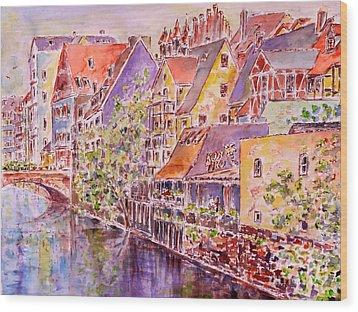 Greetings From Nuremberg Wood Print by Alfred Motzer