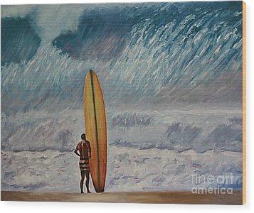 Greg Noll - Waimea Bay Oahu Wood Print