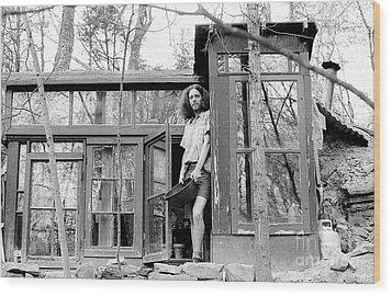 Greg's Solar Home 1979 Wood Print by Ed Weidman
