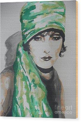 Greta Garbo Wood Print by Chrisann Ellis