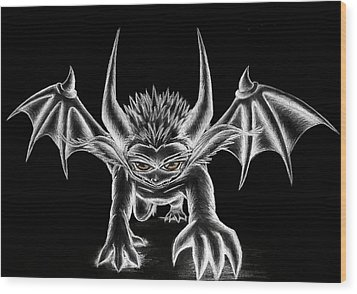 Wood Print featuring the painting Grevil Chalk by Shawn Dall