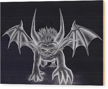 Grevil Silvered Wood Print by Shawn Dall