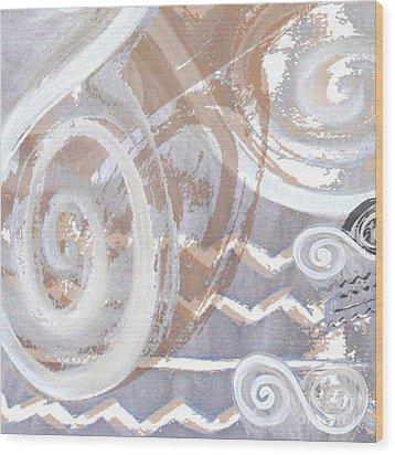 Grey Abstraction 2 Wood Print by Eva-Maria Becker