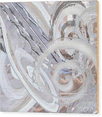 Grey Abstraction 3 Wood Print by Eva-Maria Becker