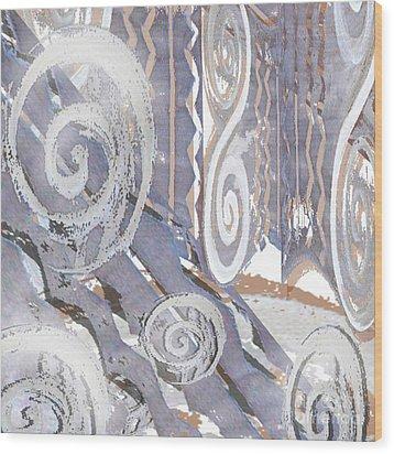 Grey Abstraction 4 Wood Print by Eva-Maria Becker