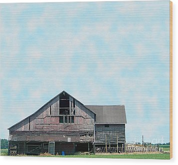 Wood Print featuring the photograph Grey Barn by Gena Weiser