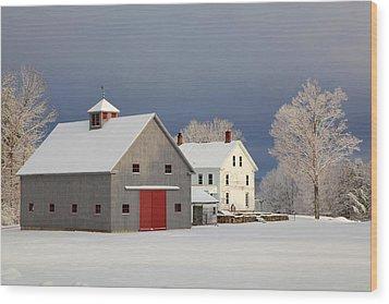 Wood Print featuring the photograph Grey Barn by Larry Landolfi