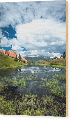 Wood Print featuring the photograph Grey Copper Gulch by Jay Stockhaus