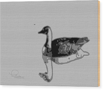 Wood Print featuring the photograph Grey Goose by Ludwig Keck