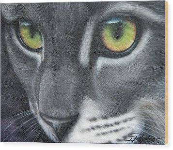 Grey Lady Wood Print