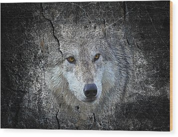 Grey Stone Wood Print by Athena Mckinzie