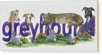 Greyhounds Wood Print