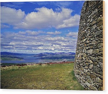 Grianan Of Aileach View Wood Print by Nina Ficur Feenan