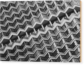Grid Lines Wood Print by Louis Dallara