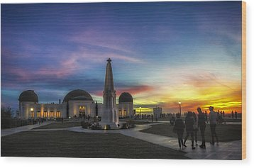Wood Print featuring the photograph Griffith Observatory by Sean Foster