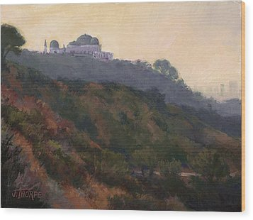 Griffith Park Observatory- Late Morning Wood Print by Jane Thorpe