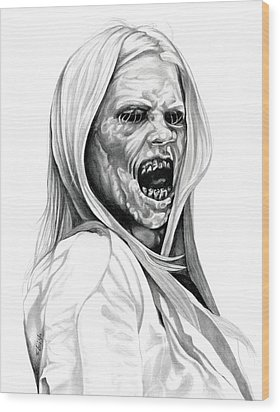 Grimm Hexenbiest Wood Print by Fred Larucci
