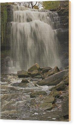 Grindstone Falls Wood Print