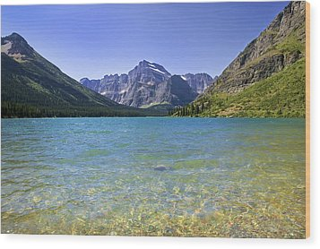 Grinnel Lake Glacier National Park Wood Print by Rich Franco