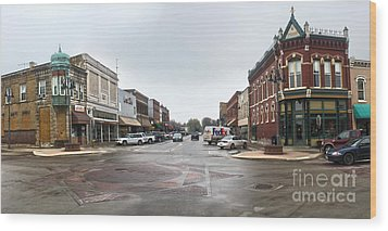 Grinnell Iowa - Downtown - 05 Wood Print by Gregory Dyer
