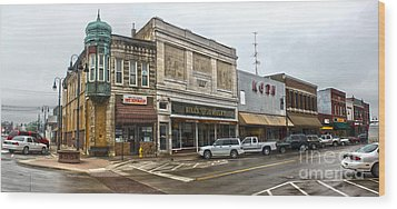 Grinnell Iowa - Downtown - 01 Wood Print by Gregory Dyer