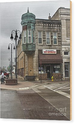 Grinnell Iowa - Downtown - 04 Wood Print by Gregory Dyer