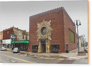 Grinnell Iowa - Louis Sullivan - Jewel Box Bank - 02 Wood Print by Gregory Dyer