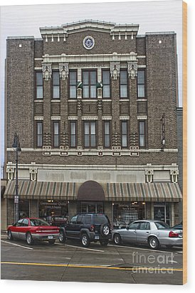 Grinnell Iowa - Masonic Temple -02 Wood Print by Gregory Dyer