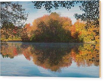 Grist Millpond Framed Wood Print by Michael Blanchette