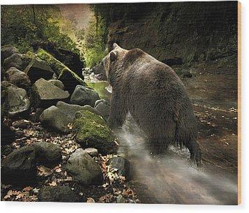 Grizzly Creek Wood Print by Roy  McPeak