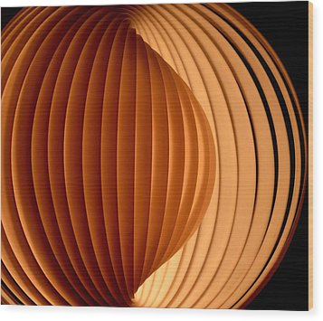 Groovy Abstract 5 Wood Print by Newel Hunter