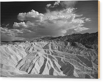 Wood Print featuring the photograph Grooving In Death Valley by Stephen Flint