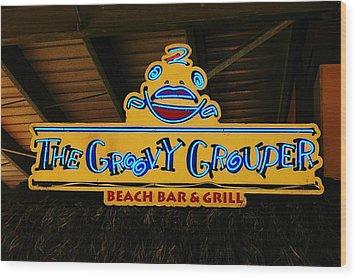 Groovy Wood Print by Randy Pollard