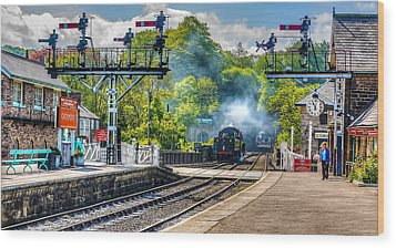 Grosmont Railway Station Wood Print by Trevor Kersley