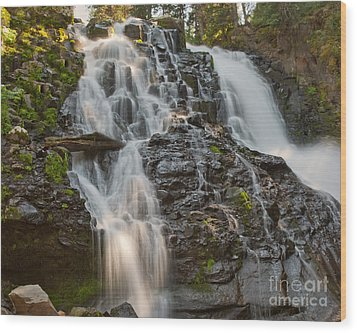 Grotto Falls Wood Print