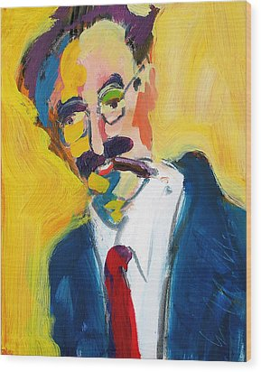 Groucho Wood Print by Les Leffingwell