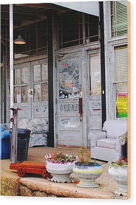 Ground Zero Clarksdale Mississippi Wood Print by Lizi Beard-Ward