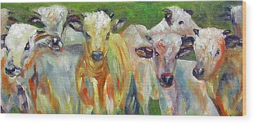 The Gathering, Cattle   Wood Print