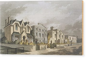 Group Of Villas In Herne Hill Wood Print by English School
