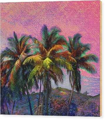 Grove Of Coconut Trees - Square Wood Print