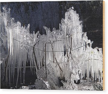 Growing Icicles In Florida Wood Print