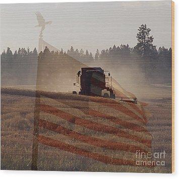 Grown In America Wood Print by Sharon Elliott