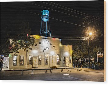 Gruene Hall Wood Print by Andy Crawford