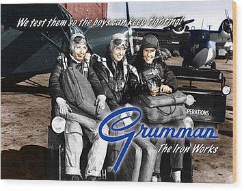 Grumman Test Pilots Wood Print