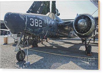 Grumman Tigercat F7f-3n  -  03 Wood Print by Gregory Dyer