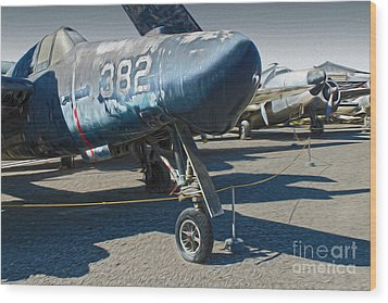 Grumman Tigercat F7f-3n  -  01 Wood Print by Gregory Dyer